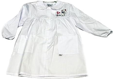Tutti a Scuola - Bata de Colegio 27-411 para niña, Color Liso, guardería, con Bordados, puños elásticos ES 116cm: Amazon.es: Ropa y accesorios