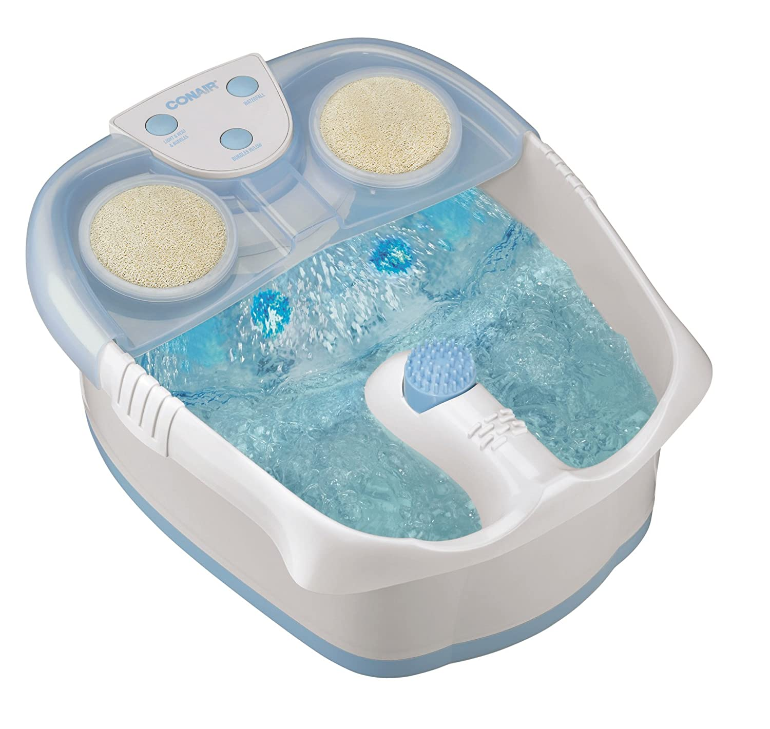 blue Conair Foot Pedicure Spa with Waterfall, Lights and Bubbles