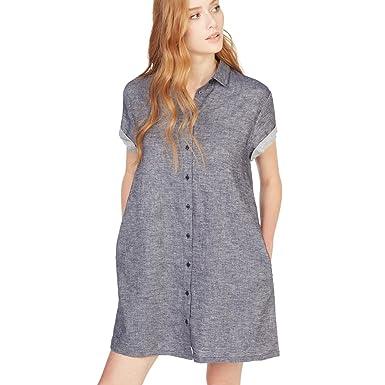 66e63c4ccc29 MONOPRIX FEMME - Robe chemise en lin et coton à manches courtes - Femme -  Taille