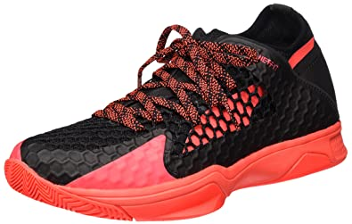 Puma Evospeed Indoor Netfit 3, Chaussures de Fitness Mixte Adulte, Orange (Black-Fiery Coral), 37 EU