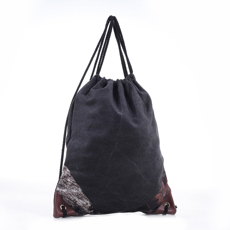 Mossy Oakコットンキャンバス巾着バッグ B019FXUWOQ  ブラック