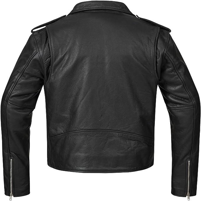 Bohmberg Premium- Chaqueta pesada de motociclista 100% cuero duradero para hombre - XL: Amazon.es: Coche y moto