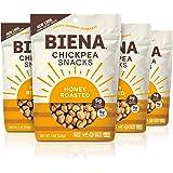 BIENA Chickpea Snacks, Honey Roasted | Gluten Free | Dairy Free | Vegetarian | Plant-Based Protein (4 Pack)