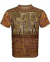 WorldX Mens Hieroglyphics Ancient Egypt Artifact Aztec Men's Sport Mesh Tee