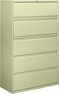 product image for HON 895LL 800 Series Five-Drawer Lateral File, Roll-Out/Posting Shelves, 42w x 67h, Putty