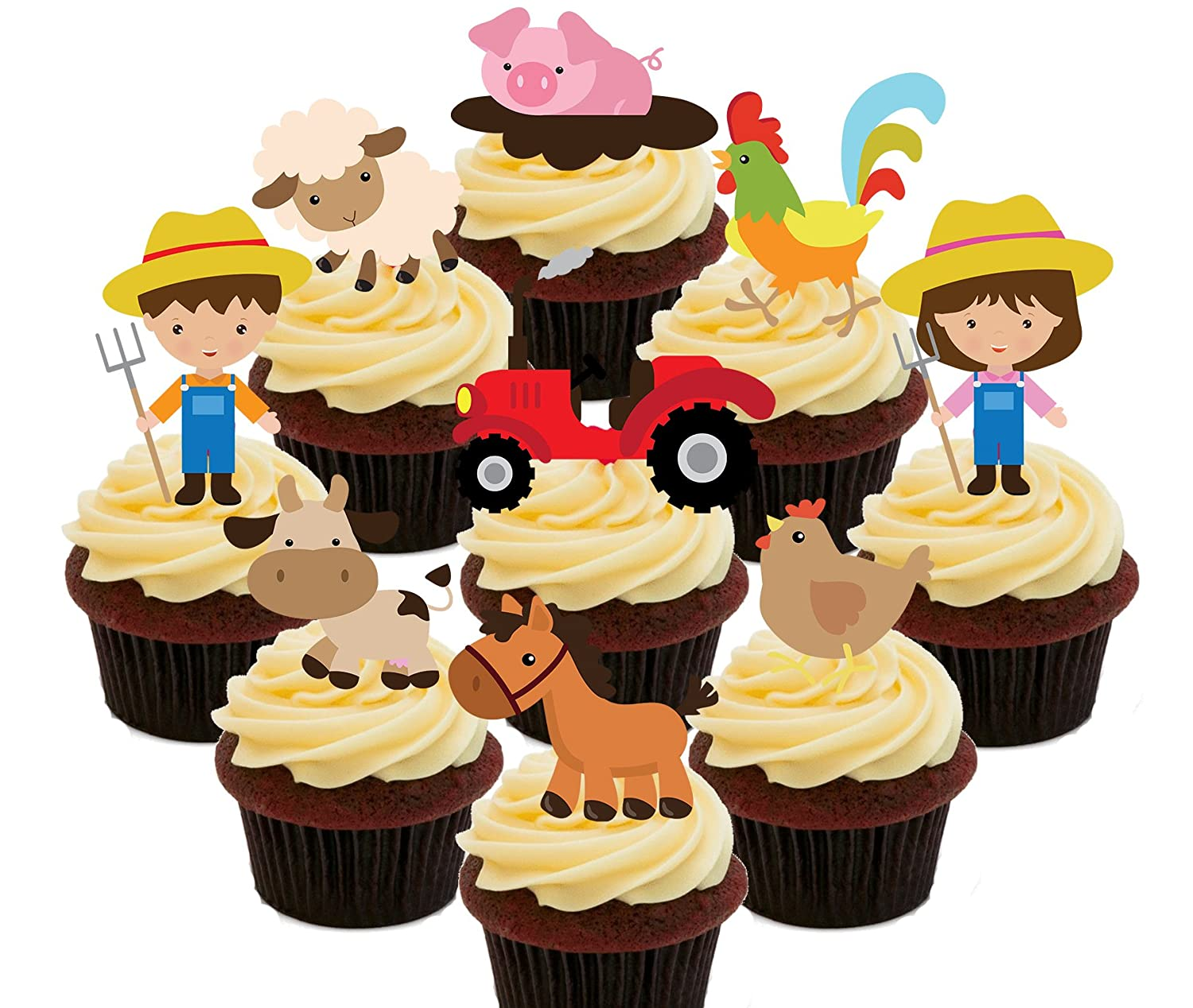 Farmyard Party Pack - Farmers,Tractors and Farm Animals, Kids ...