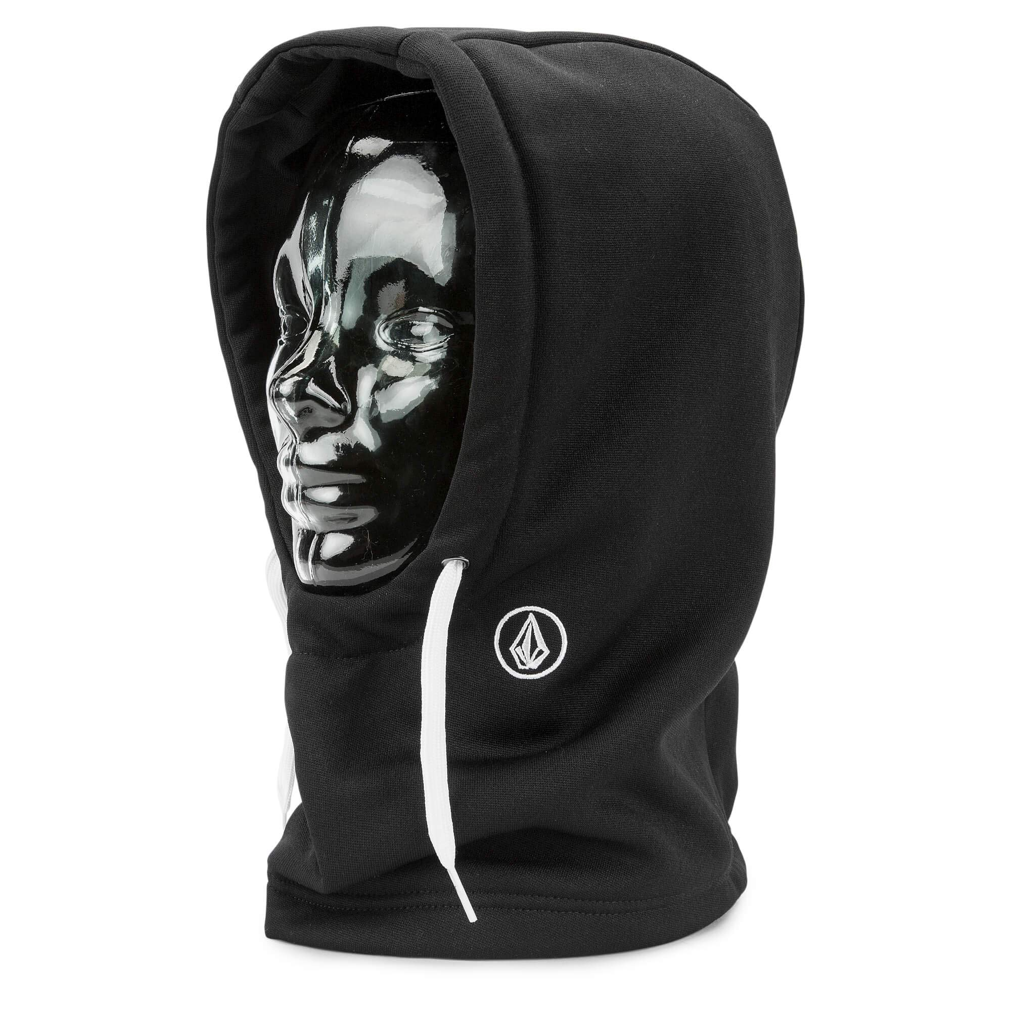 Volcom Women's Dang Hydro Fleece Hood Only, Black One Size Fits All