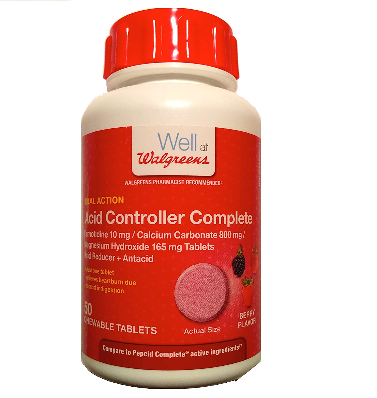 Amazon Walgreens Acid Controller plete Chewable Tablets 50