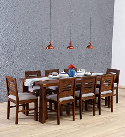 28e91cc5a103 Corazzin Wood Sheesham Wood Wooden Dining Table Set with 8 Chairs | Home and  Living Room | Provincial Teak Finish: Amazon.in: Home & Kitchen