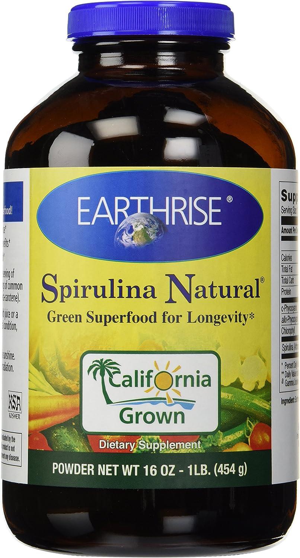 Earthrise Spirulina Natural, 454 Grams Powder
