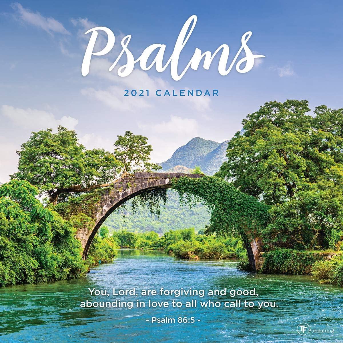 """2021 Psalms 12""""x12"""" Wall Calendar"""