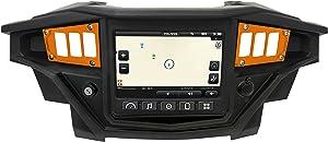 STV Motorsports 2017-2018 Polaris RZR XP 1000 RIDE COMMAND Custom Switch Dash Panel Plates with 4 free rocker switches - 100% MADE in USA (short, aluminum) (orange, 4 laser switch)