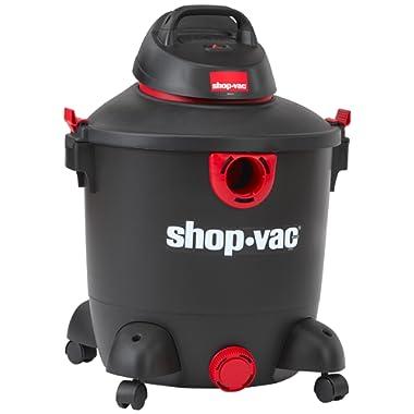 Shop-Vac 5985300 12 gallon 5.0 Peak HP Classic Wet Dry Vacuum, Black/Red