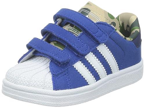 reputable site afa6c c141f adidas bambino superstar blu