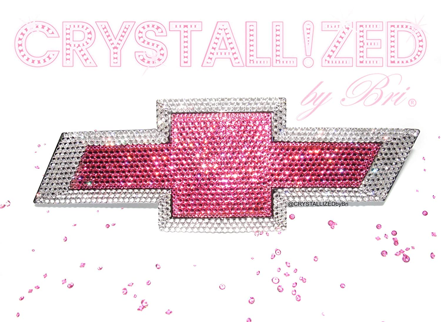 Amazon Com Swarovski Crystallized Emblem For Chevy Chevrolet Bowtie Front Rear Grille Trunk Badge Bling Crystals Pink Handmade