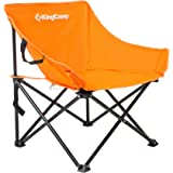 KingCamp Comfortable Light Heavy Duty Steel Folding Chair with Handle