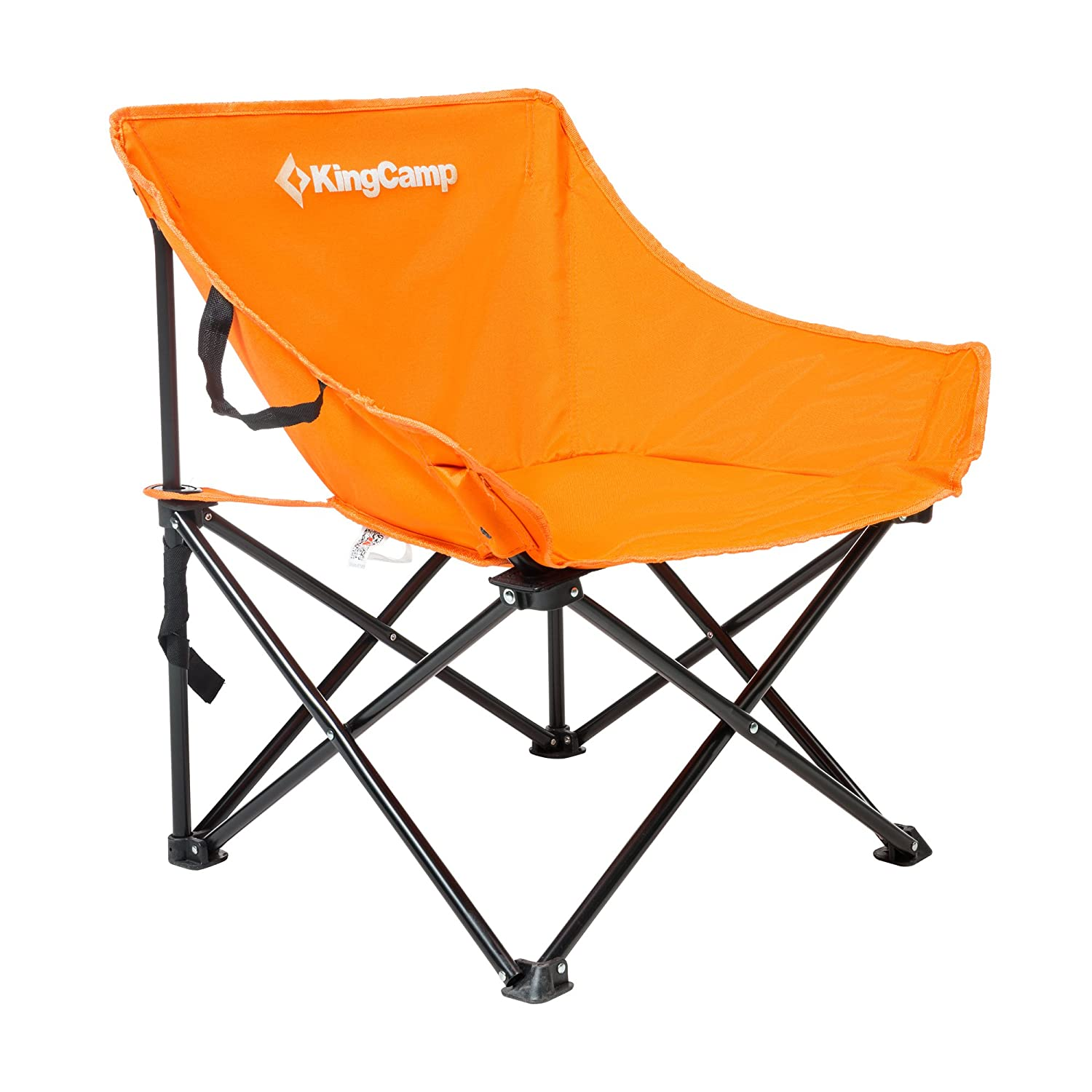 KingCamp Comfortable Protable Heavy Duty Steel Folding Chair with Handle