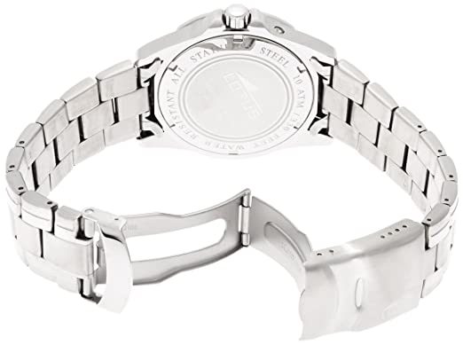 Amazon.com: Lotus Mens Quartz Watch with Blue Dial Analogue Display and Silver Stainless Steel Bracelet 15301/2: Watches