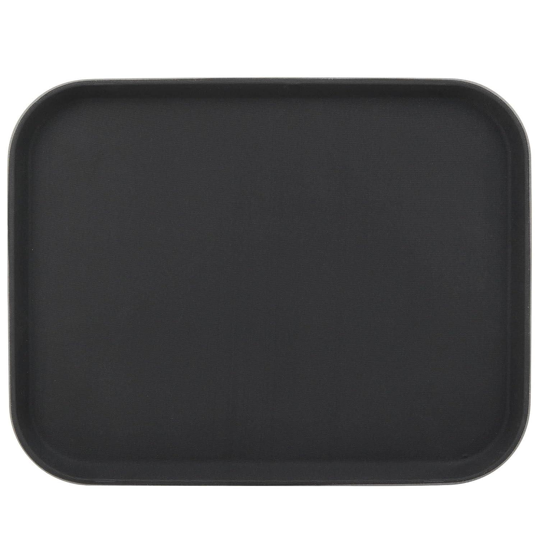 Restauración Essentials nst-1014bk antideslizante plástico/de comida rápida bandeja de cafetería, 25,4 cm x 35,6 cm), color negro: Amazon.es: Hogar