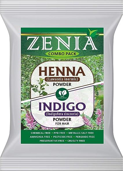 Zenia Indigo Henna + Henna Color de Pelo 100 g: Amazon.es ...