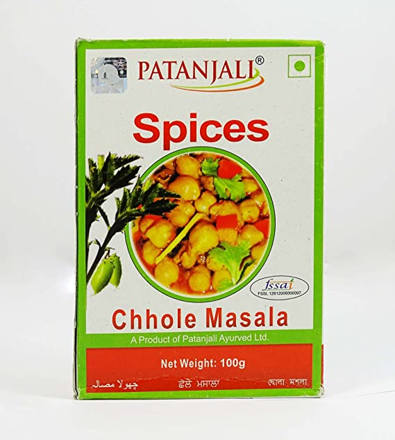 02c58583b5 Patanjali Chhole Masala, 100g: Amazon.in: Grocery & Gourmet Foods