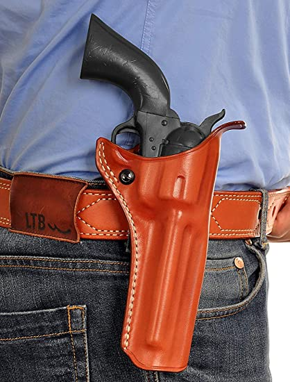 Premium Leather Paddle OWB Revolver Holster Open Top Fits Ruger Single Six  Series 22 LR/ 22 WMR 4 6