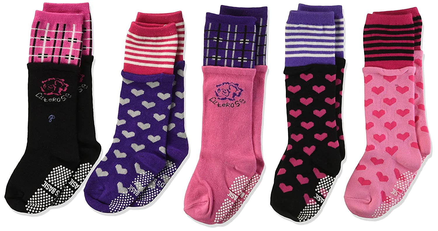 Set of 5 Wrapables Girls Hearts and Roses Socks Set 1