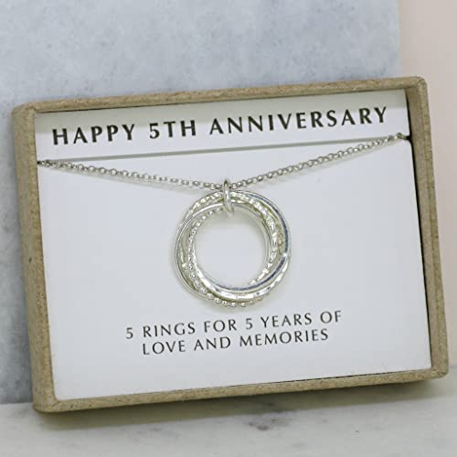 amazon com 5th anniversary gift 5 year anniversary necklace gift