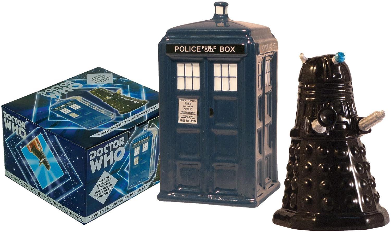 The Unemployed Philosophers Guild Doctor Who TARDIS vs Dalek Salt and Pepper Shaker - BBC Licensed