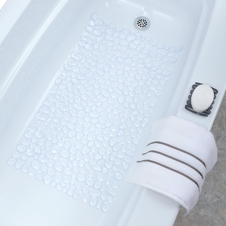 Amazon.com: Pebble Bath Mat - Clear: Home & Kitchen