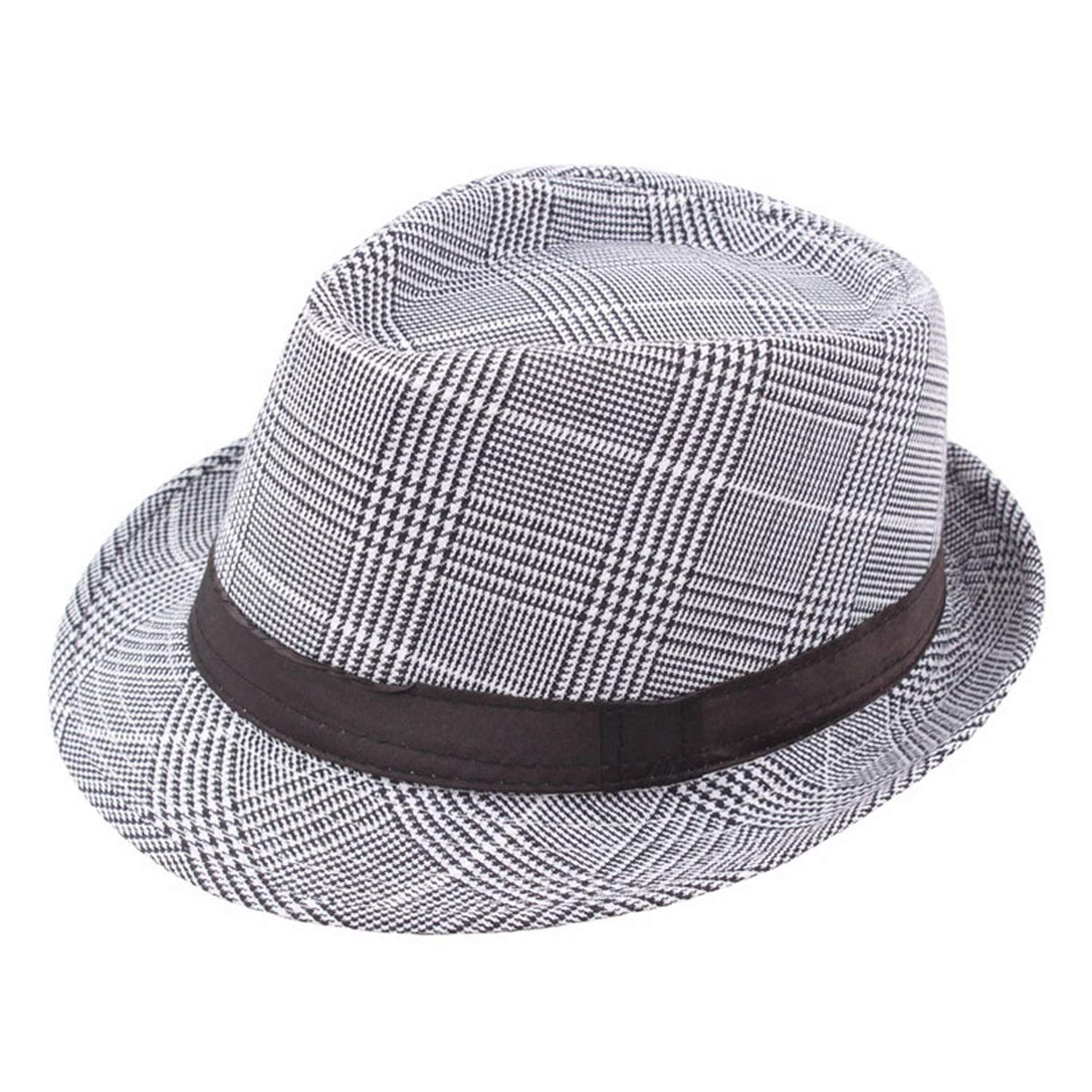 2019 England Retro Mens Top Jazz Plaid Hat Spring Summer Bowler Hats Cap Classic Version Hats