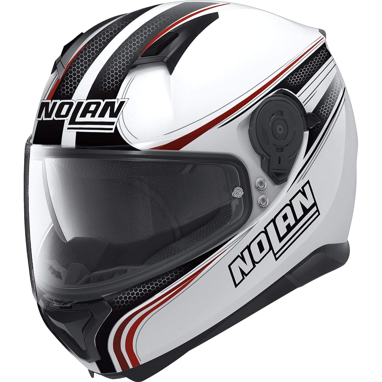 Nolan Rapid N87 N-Com Full Face Motorcycle Helmet Polycarbonate White Metal Size M