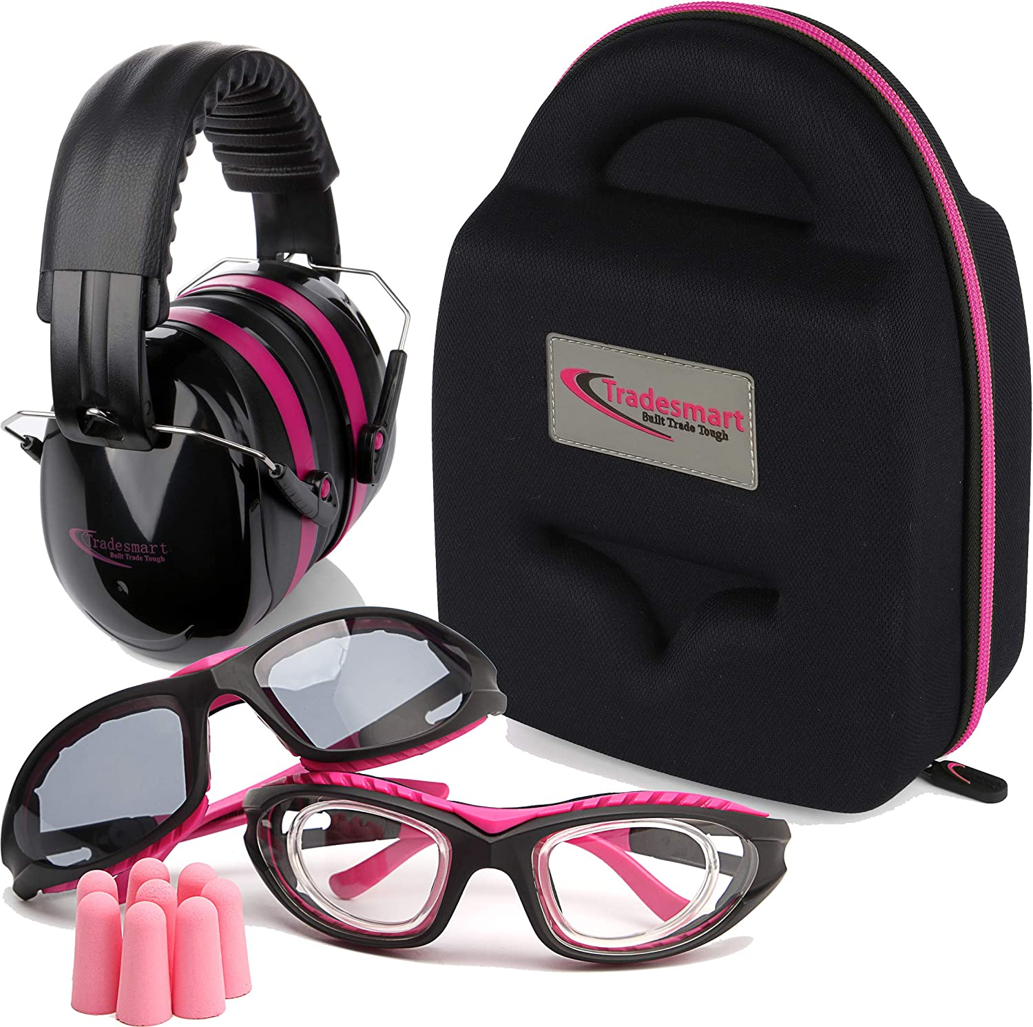 TRADESMART Shooting Range Earmuffs and Glasses – Safety Ear and Eye Protection