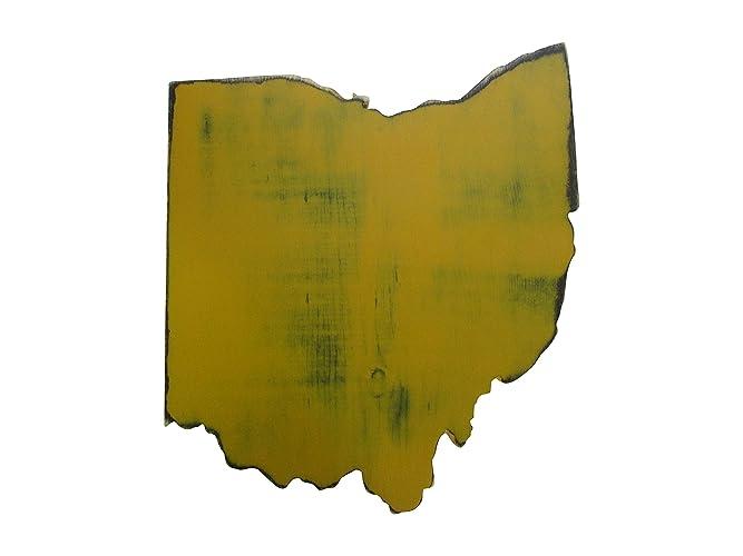 Amazon.com: Ohio State Wall Decor Rustic Distressed Pine Wood Sign ...