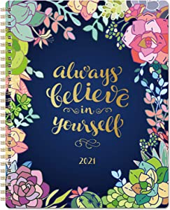 """2021 Planner - 2021 Weekly & Monthly Planner with to-Do List, 8"""" x 10"""", Jan. 2021 - Dec. 2021, Twin Wire Binding Perfect for Planning Your Home or Office"""