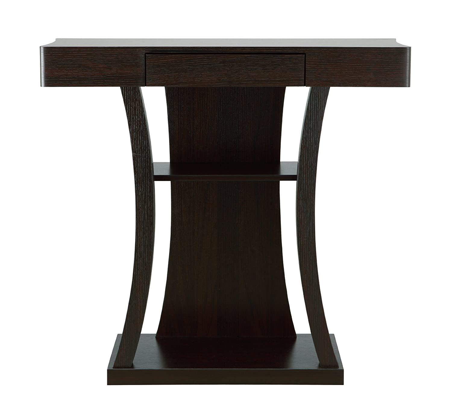 Furniture of America Kelvin Console Table with Storage Drawer, Cappuccino Finish Enitial Lab IDI-13626