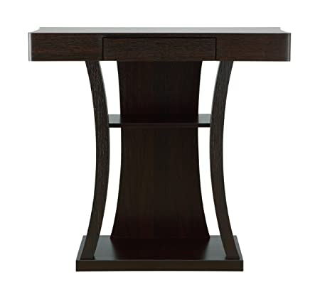 ioHOMES Kelvin Console Table with Storage Drawer, Cappuccino Finish