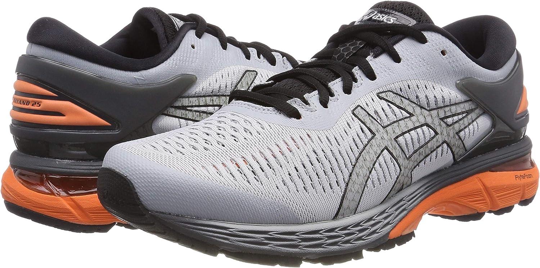 Asics Gel Kayano 25 Grey Orange Men Running Training Shoes Sneakers 1011A019-022