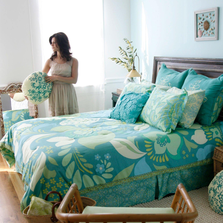 Amy Butler Home Decor Fabric Amazoncom Amy Butler Dancing Garden Comforter And Sham Set Twin
