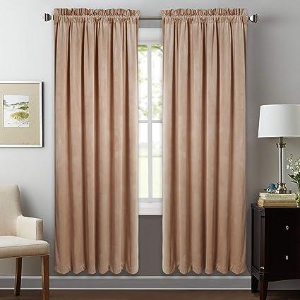Amazon Com Stangh Bedroom Velvet Blackout Curtains Drapes Noise