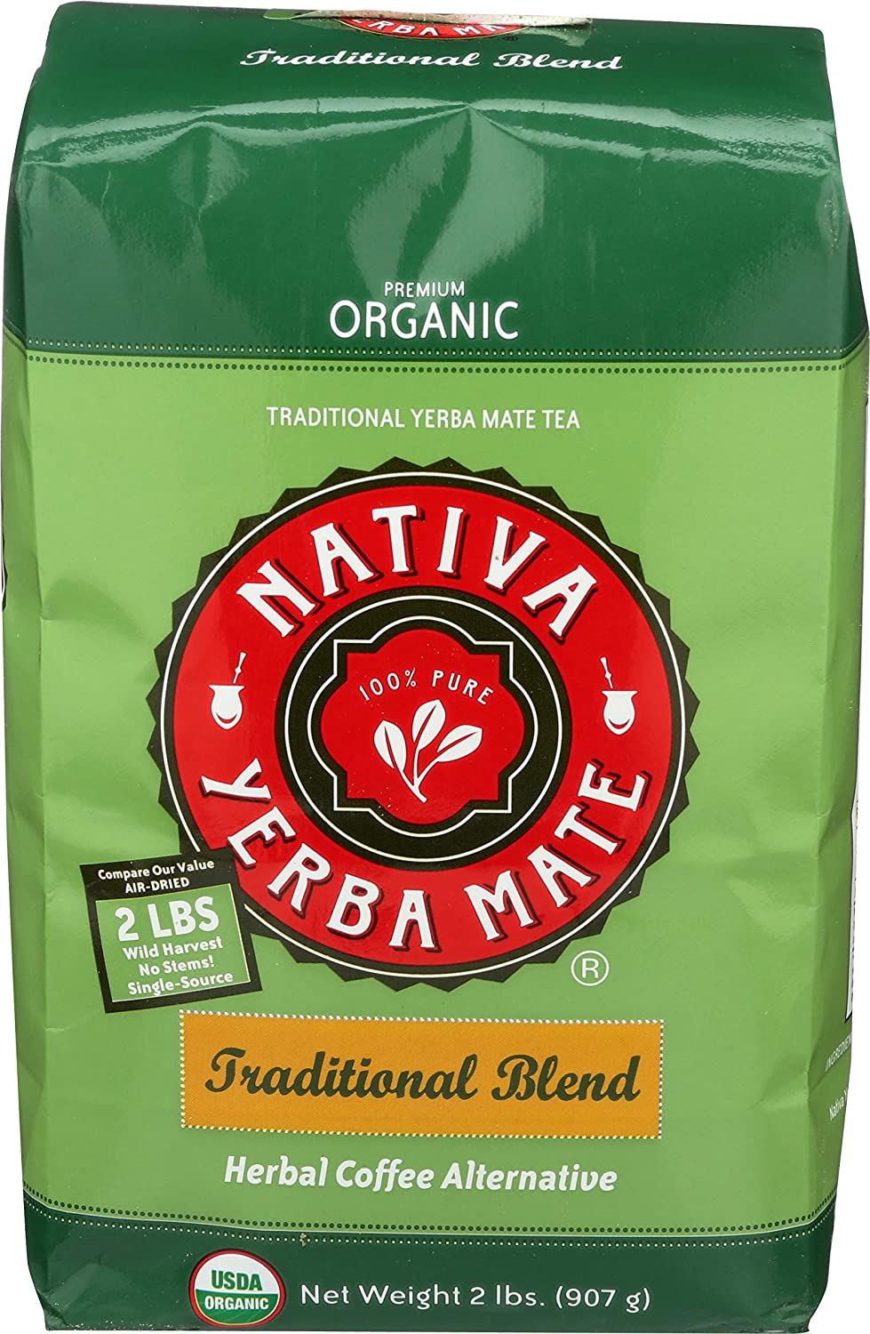 B01NCO5M5A Nativa Yerba Mate Wildcrafted Traditional Blend Pure Leaf Loose Yerba Mate Tea - 2lbs/32oz (2 Pack) 81D2BKfkE8vL