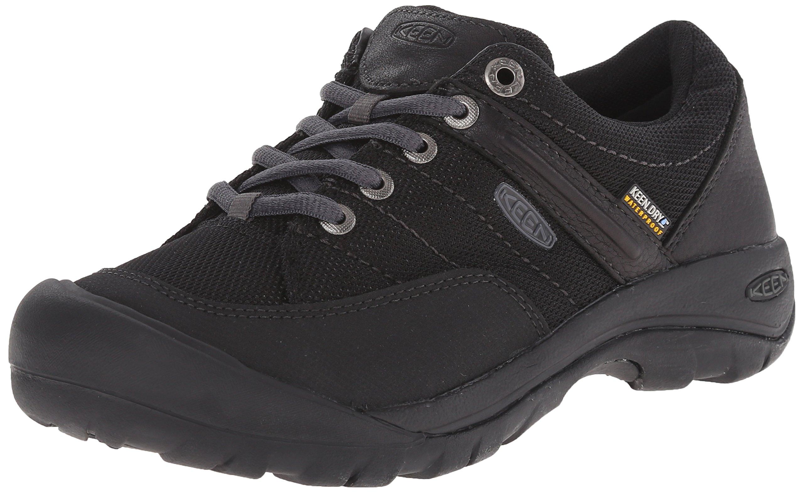 KEEN Women's Presidio Sport Mesh Waterproof Shoe, Black, 8.5 M US