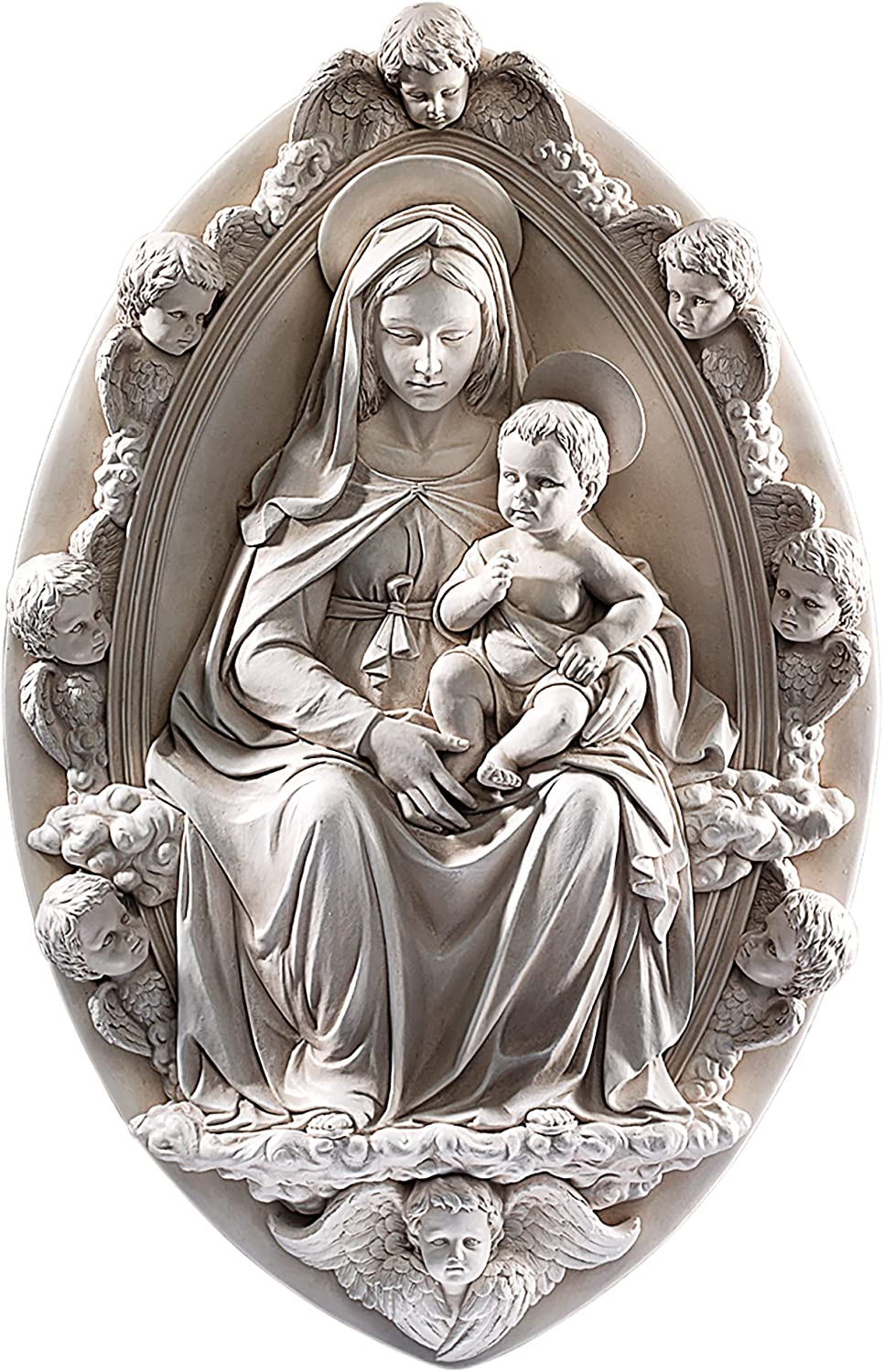 Design Toscano Madonna and Child 1430 Wall Sculpture