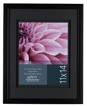 gallery solutions wall frame with airfloat mat 11 by 14 inch matted opening to