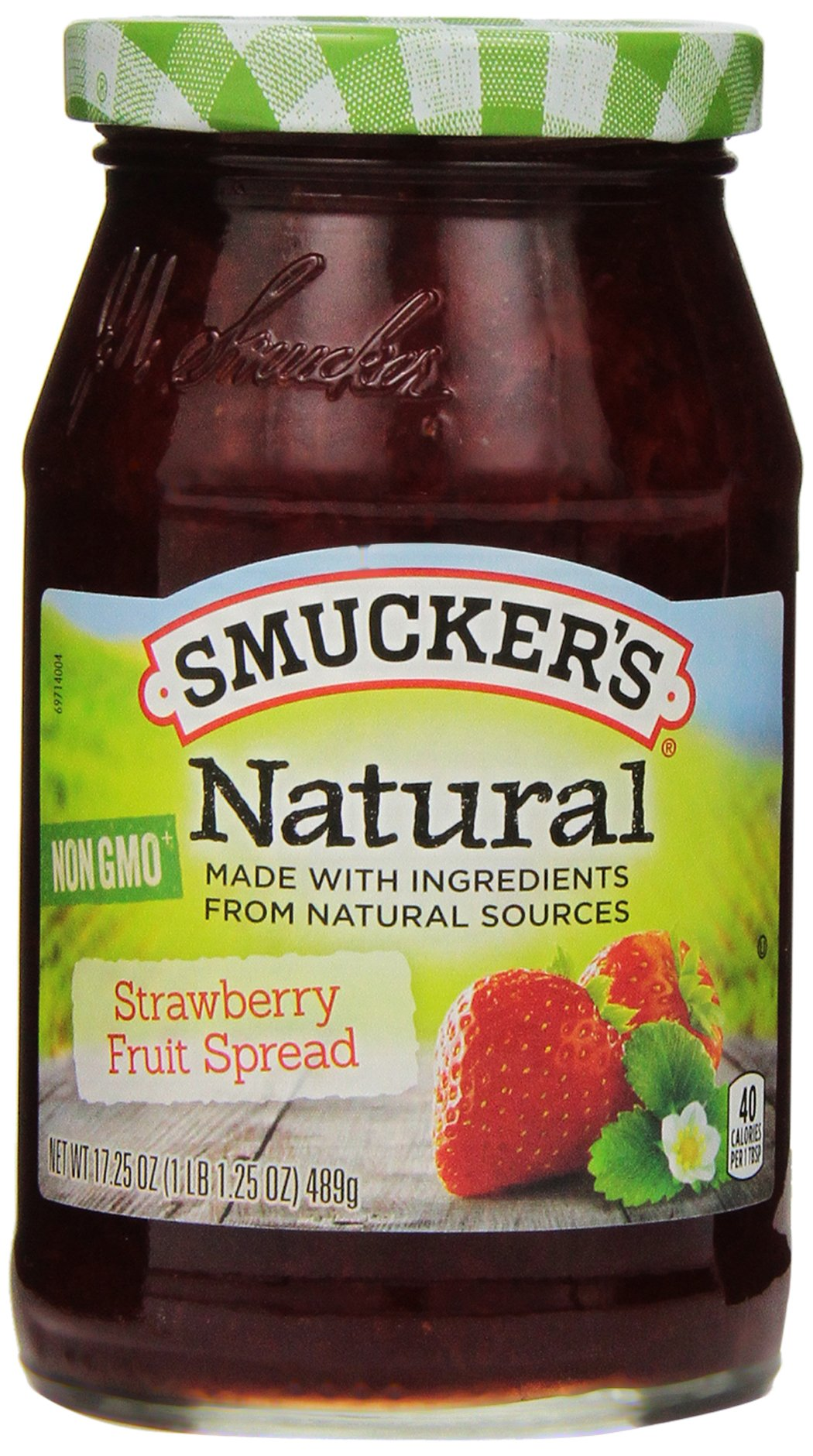 Smucker's Natural Strawberry Fruit Spread, 17.25 Ounce