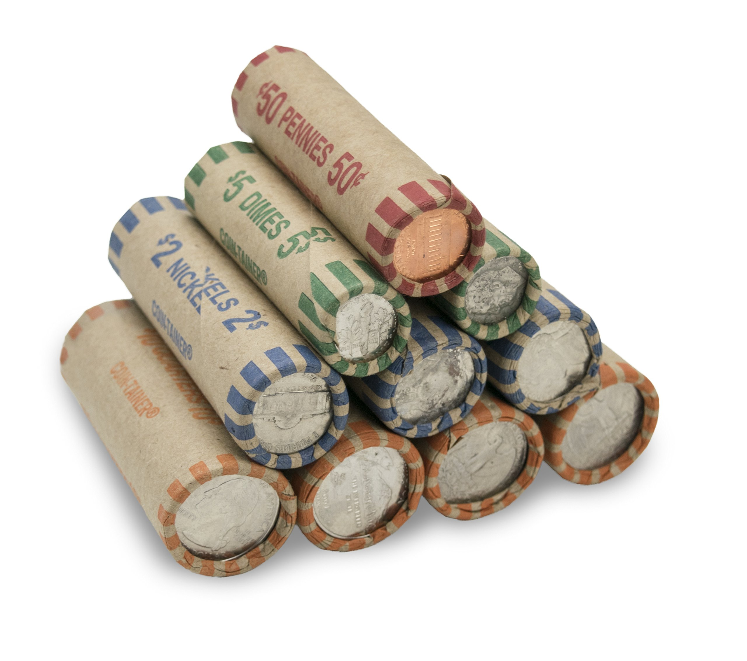 Pre-formed Assorted Coin Wrappers (Bundle of 160)
