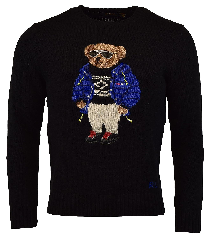 117b6a95954e Polo Ralph Lauren Mens Ski Bear Wool Camel Blend Crewneck Sweater at Amazon  Men s Clothing store