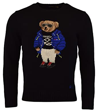 a5ab54d7237f7 Polo Ralph Lauren Mens Ski Bear Wool Camel Blend Crewneck Sweater at ...