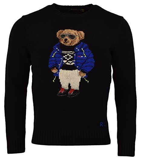 Polo Ralph Lauren Mens Ski Bear Wool Camel Blend Crewneck Sweater at ... e0949c1eea03