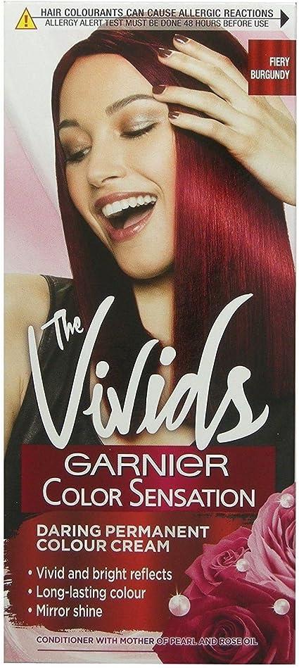 Tinte permanente para cabello color rojo borgoña 4.62: Amazon ...